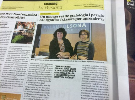 Noticia grafologia palausolsona